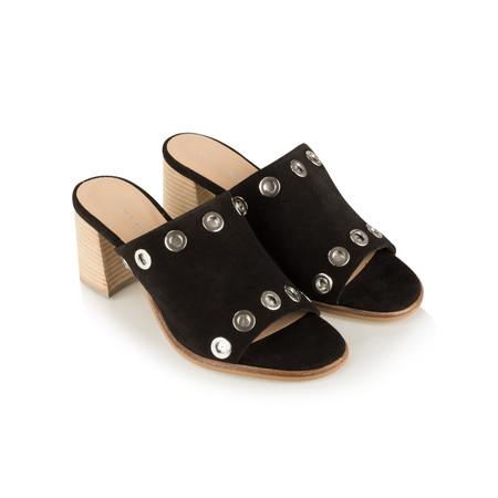 Vanilla Moon Shoes Odell Suede Prada Mule - Black