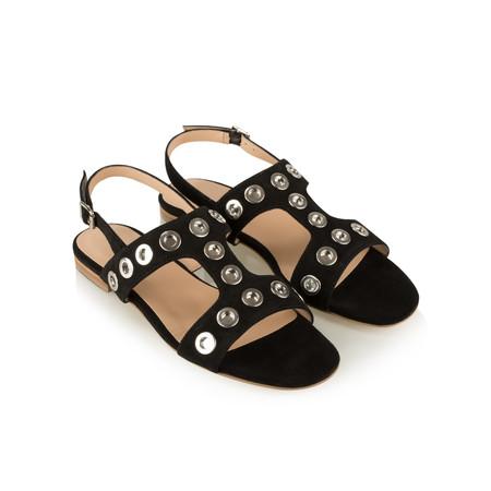 Vanilla Moon Shoes Waverly Suede Prada Sandal - Black