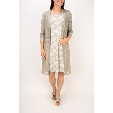 Sandwich Clothing Long Sleeve Linen Longline Cardigan - Beige