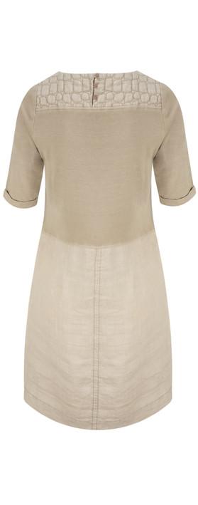 Sandwich Clothing Woven Linen Dye Dress Pebble Sand