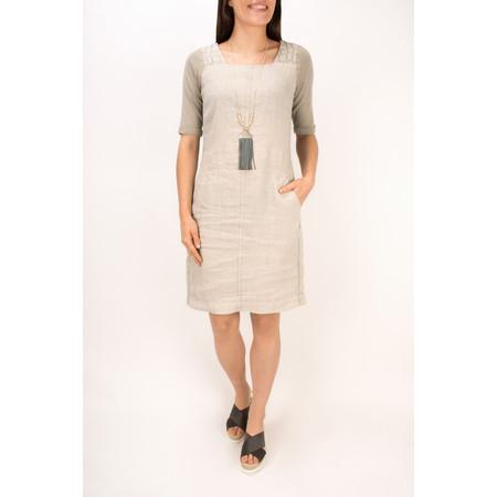 Sandwich Clothing Woven Linen Dye Dress - Beige
