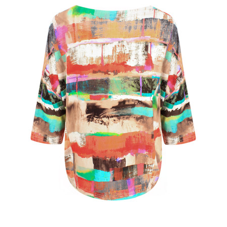 Sahara Multi Print Easy Fit Top - Multicoloured