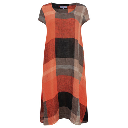 Sahara Big Check Dress - Black