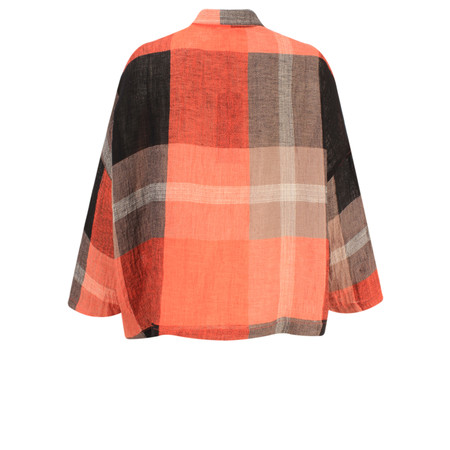 Sahara Big Check Oversize Shirt - Black