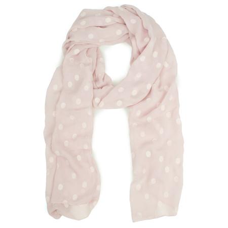 Grizas Spot Silk Devore Scarf - Pale Pink