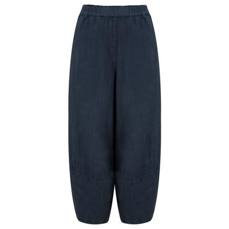 Grizas Linen Easyfit Trouser with Seam Detail - Blue