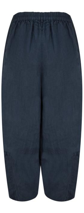 Grizas Linen Easyfit Trouser with Seam Detail 421 Navy