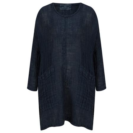 Grizas Linen Oversized Tunic Top - Blue