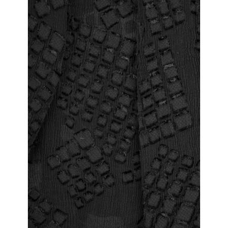 Grizas Silk Devore Check Scarf - Black