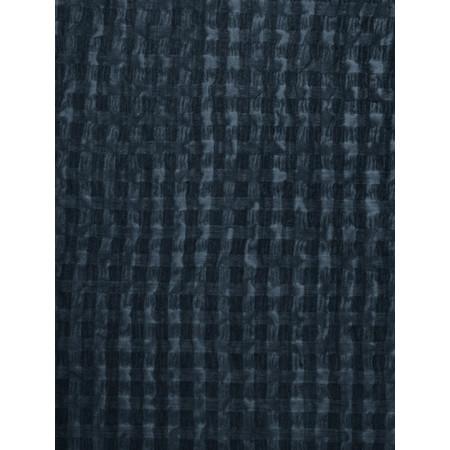 Grizas Silk and Cotton Check Scarf - Blue