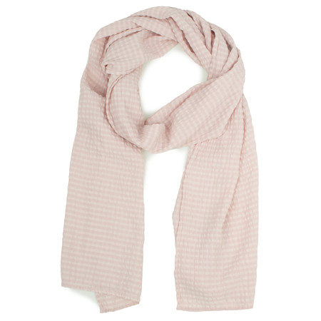 Grizas Silk and Cotton Check Scarf - Pink