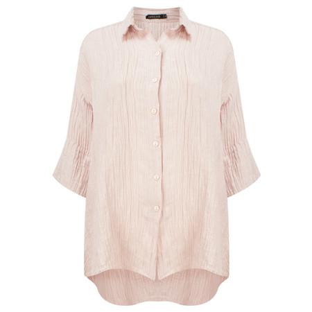 Grizas Loose Crinkle Silk Shirt - Pale Pink