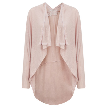 Grizas Linen Waterfall Cardi - Pale Pink