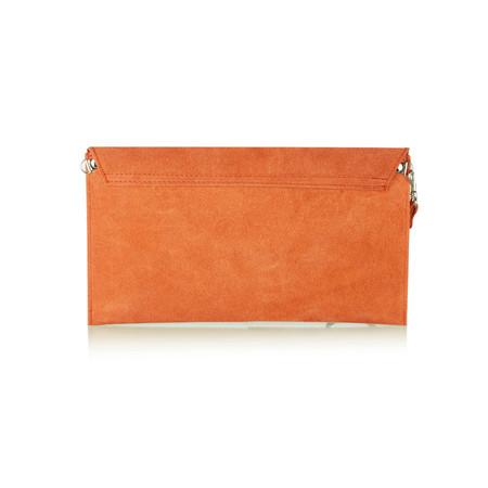 Pure White Paluzza Handbag - Orange