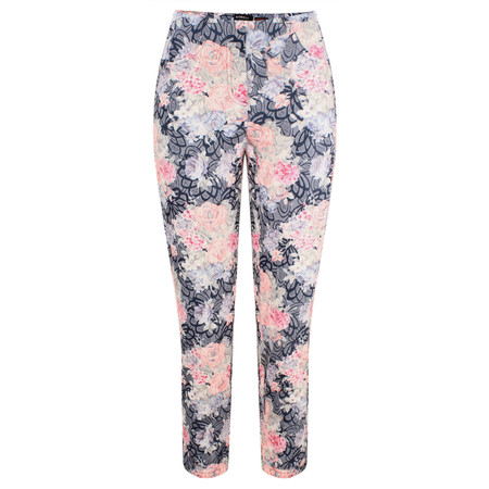 Robell Trousers Bella 09 Floral - Blue
