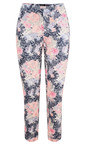 Robell Trousers Navy Bella 09 Floral