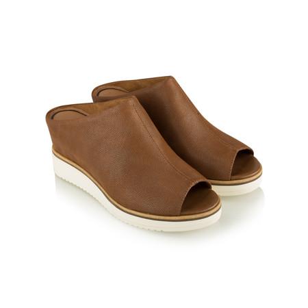 Tamaris  Leather Mule Sandal - Brown