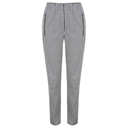 Masai Clothing Gingham Pearl Trousers - Navy/creme