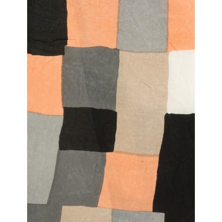 Masai Clothing Along Patchwork Print Scarf - Orange