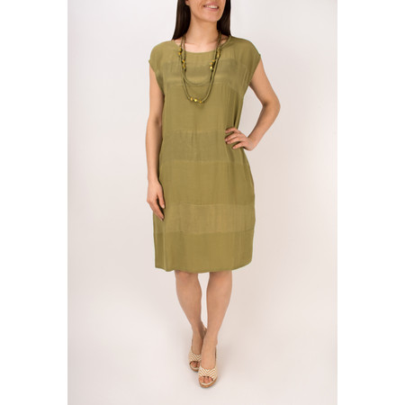 Masai Clothing Halima Striped Panel Tunic - Sage