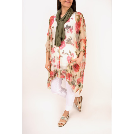 Masai Clothing Oversize Denis Floral Print Top - Pink