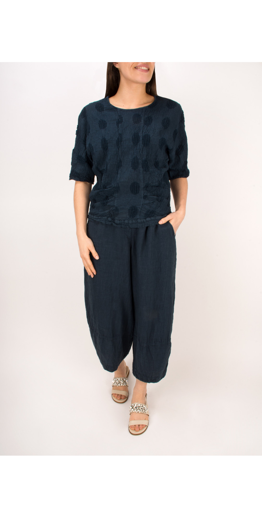 Linen Easyfit Trouser with Seam Detail main image