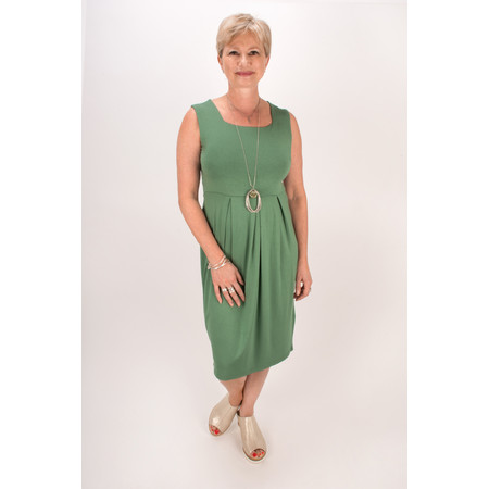 Masai Clothing Hadas Fitted Tunic Dress - Artichoke
