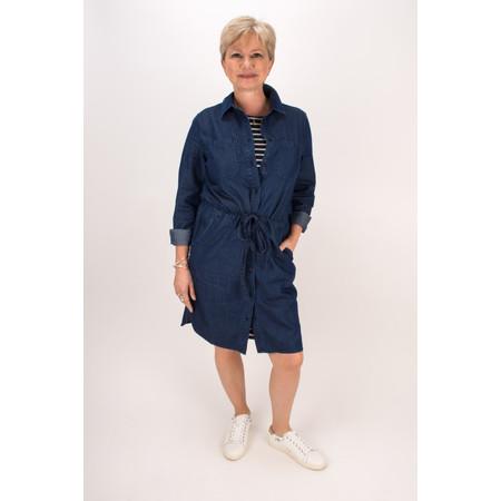 Great Plains Lightweight Denim Shirt Dress - Dark Vintage