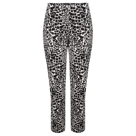 Robell Trousers Bella 7/8 Animal Print Trousers - Beige