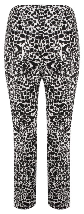 Robell Trousers Bella 7/8 Animal Print Trousers Black/White