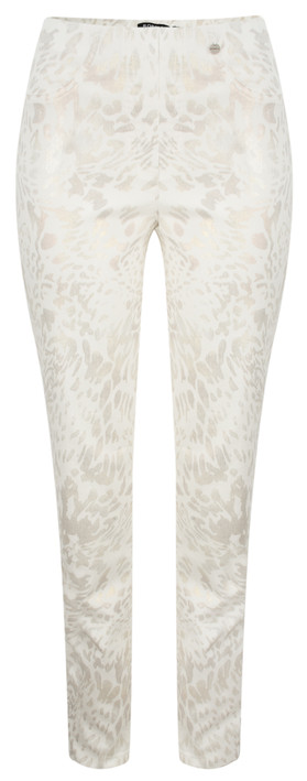 Robell Trousers Bella Long Printed Trouser Gold