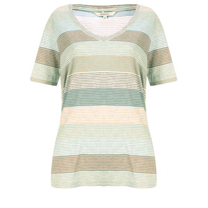 Sandwich Clothing Striped Jersey V Neck T-shirt
