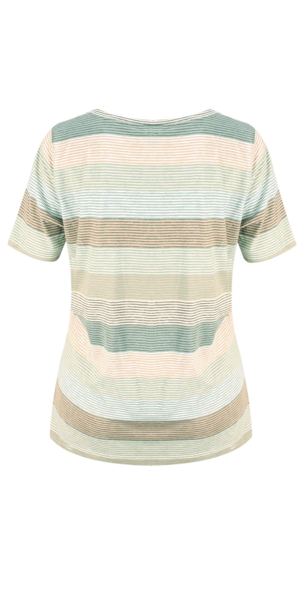 Striped Jersey V Neck T-shirt main image
