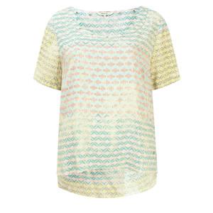 Sandwich Clothing Diamond Check Short Sleeve Blouse
