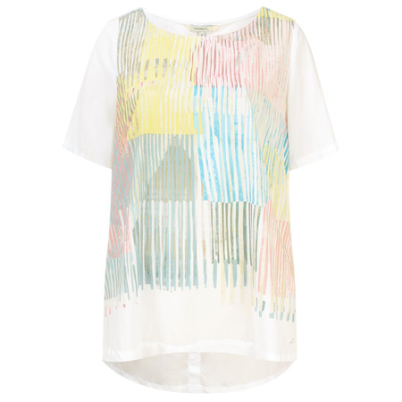 Sandwich Clothing Abstract Pattern Blouse - White
