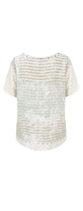 Sandwich Clothing Diamond Check Short Sleeve Blouse Washed Jade