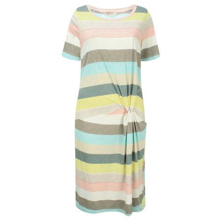 Sandwich Clothing Striped Waist Detail Jersey Dress - Blue