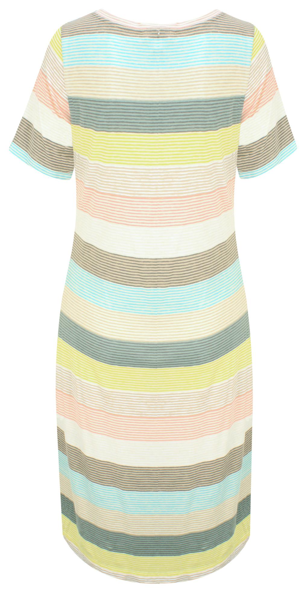 Striped Waist Detail Jersey Dress main image
