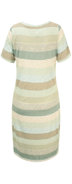Sandwich Clothing Striped Waist Detail Jersey Dress Washed Jade
