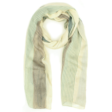 Sandwich Clothing Striped Multicoloured Scarf - Green