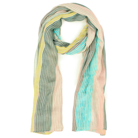 Sandwich Clothing Striped Multicoloured Scarf - Beige
