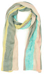 Sandwich Clothing Faded Sand  Striped Multicoloured Scarf