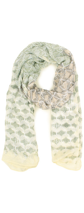 Sandwich Clothing Striped Multicoloured Scarf Washed Jade