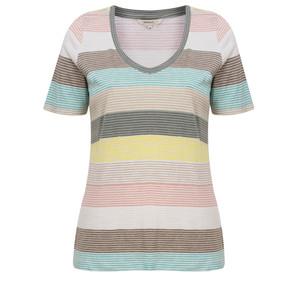 Sandwich Clothing Striped Jersey V Neck T-shirt