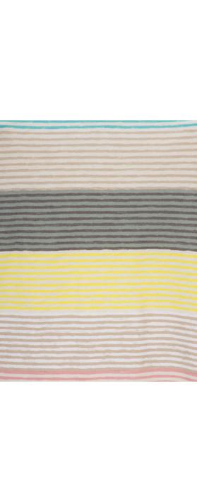 Sandwich Clothing Striped Jersey V Neck T-shirt Ocean Blue