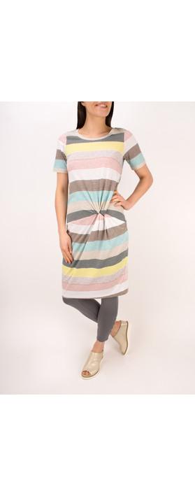 Sandwich Clothing Striped Waist Detail Jersey Dress Ocean Blue