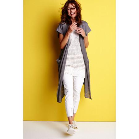 Sandwich Clothing Urban Folk Longline Jersey Short Sleeve Jacket - Grey