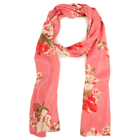 Masai Clothing Floral Lychee Along Scarf - Pink