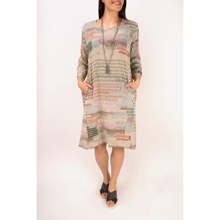 Masai Clothing Nasira Print Dress  - Pink