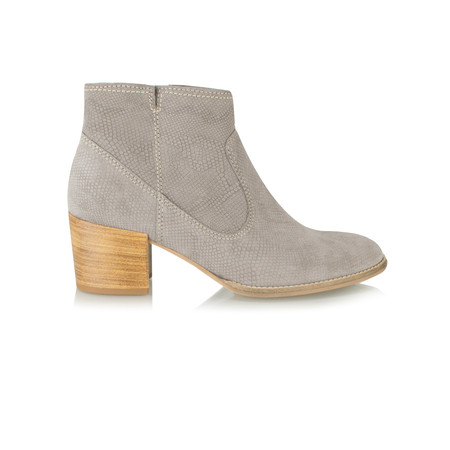 Tamaris  Textured Suede Ankle Boot - Blue